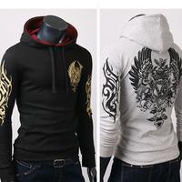 Free shipping men's tattoo print Hooded Sweatshirts jacket top brand men's high quality casual Hooded Sweatshirts S-XL