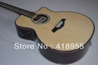 Free shipping high quality Ebony fingerboard solid taylor 914 CE real shell Mosaic acoustic guitar Set limit to