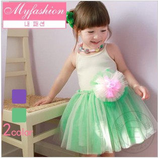 free shipping! 5pcs/lot flower girl dress kid's tutu summer clothes children's prom gown 2colors(China (Mainland))
