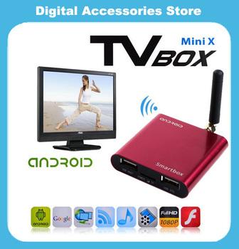 3Pc/lot  Allwinner A10 Mini Smart TV Box Android 4.0 RAM 1GB ROM 4GB TV Cloud Stick Built-in Wifi / HDMI HK Post Free Shipping