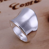 Lose Money Promotions! Wholesale 925 Silver Plated Plated ring, 925 Silver Plated Plated fashion jewelry, Thumb Ring-Opened R052