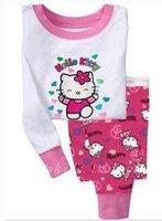 baby cotton long sleeve pyjamas baby girl pajamas baby nightwear 6sets/lot free shipping