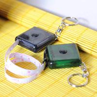 Special type portable telescopic plastic tape flexible rule DIY shop key chain