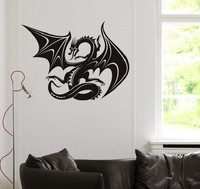 Free shipping Wall Decal Wall Stickers Home Decor Vinyl Removable Art Mural  Dragon Long 21#