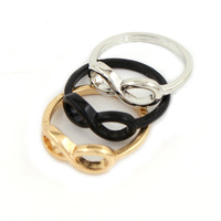 Min order is $10 ( mix order ) Fashion jewelry Infinity symbol finger ring mix color free shipping R495