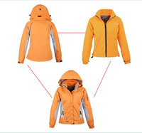 2013 Free shipping outdoor warmth Ms. ski suits Leisure sports jacket Ms. fleece two piece set waterproof Jackets