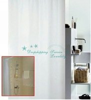 Simple Elegant Fog Transparent Design Waterproof Bathroom PEVA Shower Curtain