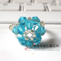 Factory Outlet Hand-woven crystal ring hand knitting 10/pc