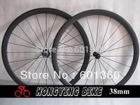 China carbon wheels 38mm road bike wheels Clincher basalt braking surface carbon wheel 1370g