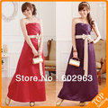 2013 new style summer bow decorate red XXXL long Evening gown dress hot sale cute purple XXL Dress dress JK9502