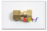 "5 x New Brass 1/4"" OD x 1/2"" Female NPT Compression Connector Fitting"