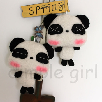 small doll plush soft toy red face panda stuffed animal car accessories decoration pendant wedding gift valentine on aliexpress
