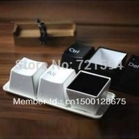 Free Shipping 3Psc/Set Fashion Button Shape Mug (Ctrl, Alt, and Del keys)/plastic mug/coffee mug/Water CUP