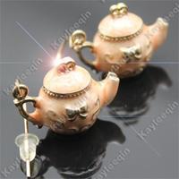 Teapot Earrings Tea Pot Dangle Party AliCe In WoNdErlaNd Costume Fancy Dress Jewelry Free Shipping