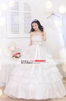 Love Bride Wedding Formal Dress Lace Tube Top 2014 Wedding Sweet Princess Wedding Dress AWY04