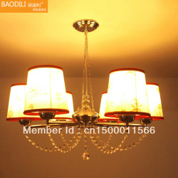 Fashion crystal pendant light stainless steel fabric pendant light lamps(China (Mainland))