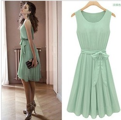 Free Shipping! Clothing 2013 women&#39;s summer slim waist slim chiffon one-piece dress(China (Mainland))