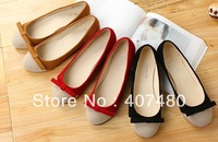 wholesale retail sweet bowknot suede simple comfortable lady women's  flat shoes wedding party etc multi color