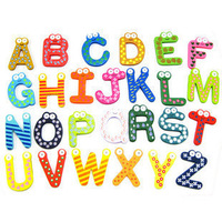 Baby educational toys letter refrigerator stickers wool magnetic refrigerator stickers letter 26