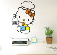 Free shipping![ wholesale and retail]HELLO KITTY 57CMX77CM-- Vinyl Wall Art Decals Stickers Murals Cartoon Decals K-04
