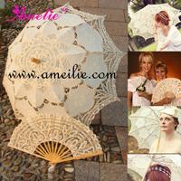 Battenburg Lace Parasol and Lace Fan