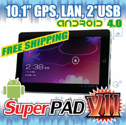 10&quot; Superpad 7 Android 4.0 1GB RAM A10 Wopad Flytouch GPS WIFI Web Camera RJ 45 Tablet PC(China (Mainland))