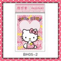 Free Shipping Hello kitty passport holders flower 100pcs/lot passport covers Card holders