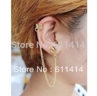 EC037,free shipping wholesale fashion clip earrings,Europe style long chain ear cuffs