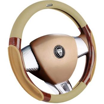 Four seasons slip-resistant steering wheel cover peach wood steering wheel cover car cover massage
