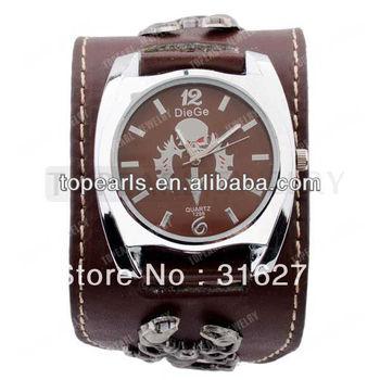 Free Shipping! Quartz Movement Brown Leather Scorpion Gothic Punk Watch LVB240