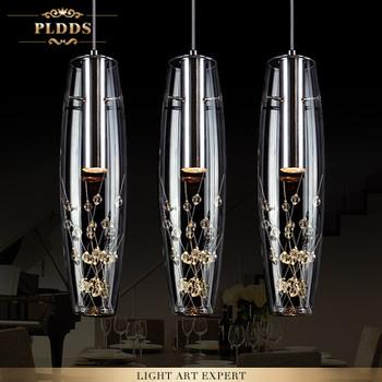 Modern home dining room decoration 15W led crystal pendant light living room lights bar acount  led crystal lamp