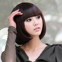 Free shipping dark/light brown and black Stylish Fashionable BOB style glueless full lace wigs