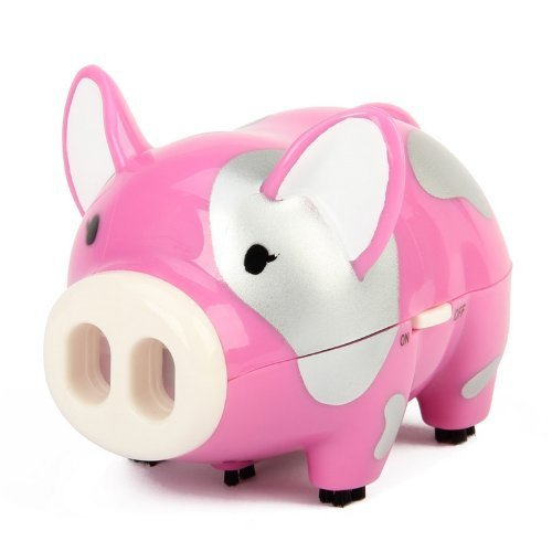 AY-3228 Mini Pig Desktop Cleaner - Black\white\deep pink(China (Mainland))