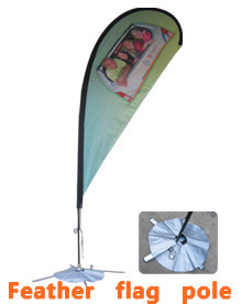 Flagpole advertising outdoor knife flag flag, water injection flooding flagpole 3 m, 5 m beach flag(China (Mainland))