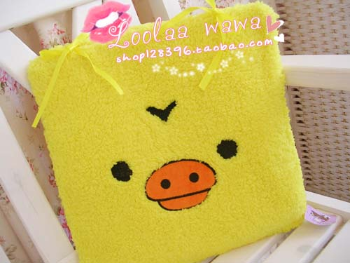 Cartoon bear chick office cushion car seat cushion chair pad plush dining chair pad sofa cushion(China (Mainland))
