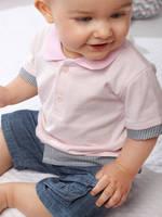 Children 's suits-boy lapel ,short-sleeved T - shirt + denim pants