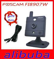 New FOSCAM black FI8907W IP CAMERA Free Foscam DDNS Day/Night surveillance webcam 2-year warranty