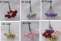 200 X Wedding Decor small heart flowers glitter diy  free shipping