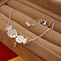 2013 spring and summer pro mouth fish anklets 18k rose gold anklets girls anklets