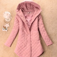 New arrival autumn and winter women 2013 autumn and winter plaid dimond wadded jacket slim women's with a hood outerwear