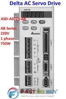 Delta AC Servo Drive AB Series ASD-A0721-AB 220V 1 phase 750W 0.75KW New