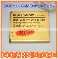 3030mah High Capacity Gold Battery for Samsung Galaxy S4 i9500 50pcs/Lot