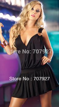 2 colors Sexy Fashion Leisure DEEP V dress charming clubwear backless teddy nightwear free shipping