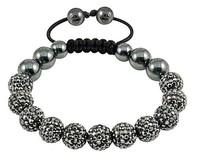 dwq554 Crystal Shamballa Bracelets Micro Pave CZ Disco Ball Bead,Shamballa Clay Bracelet Free shipping DEW879