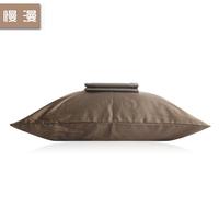 Textile 100% cotton pillow case solid color plain coffee brief