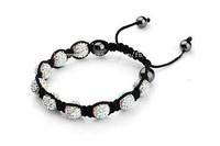 Shamballa jewelry Wholesale New Crystal Shamballa Bracelets Micro Pave CZ Disco Ball Bead,Shamballa Clay Bracelet SD598