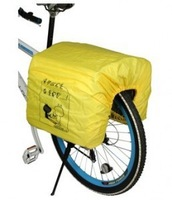 New Rear Cycling Bicycle Bike Pannier Bag Protection waterproof cloth Rain Cover Yellow Free Shipping