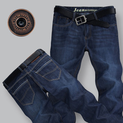 2013 new arrival plus size men's straight slim jeans casual trousers&pants #2586 Free Shiping(China (Mainland))
