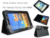 High Quality PU Leather For Samsung Galaxy Tab P6800 7.7'' Tablet Stand Case