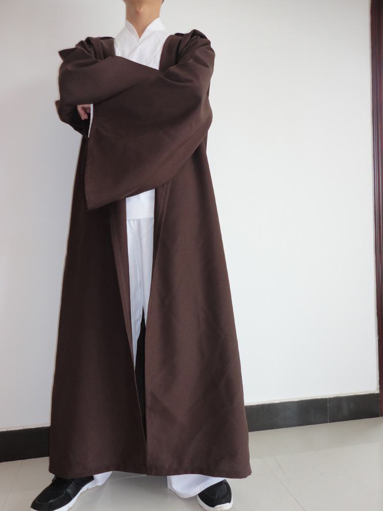 Free Ship STAR WARS JEDI Hooded Robe Cloak Cape Costume Sz:L (175-195cm) Christmas Gift(China (Mainland))